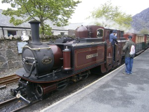 A Fairlie double ended locomotive - a Victorian invention pioneered on the Ffestiniog Railway to increase its capacity. The Railway undertakes all its restoration work in its own workshops as well as building new carriages and even locomotives.