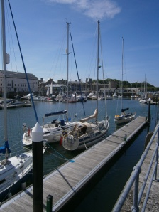 Mooredin Caernarfon Marina below the castle walls