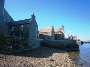 Traditional houses on the waterfront at Stromness