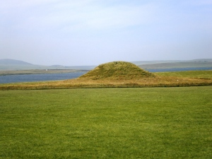 Maes How neolithic tomb - plundered by the Vikings who left their own ruinic graffitti within.