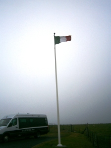 The Italian flag flies outside the Chapel