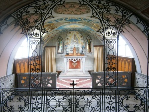 The rood screen - made from scrap metal