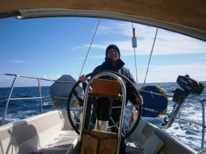 We had a fine final sail form Weymouth to Dartmouth, reaching across Lyme Bay in a north westerly wind achieving over 8 knots over the ground for long periods of time.