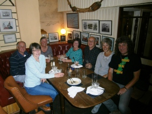 The welcome party moved on to the Windjammer in Dartmouth where we enjoyed a good meal.